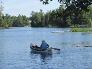 Canoeing on beautiful Katchewanooka Lake
